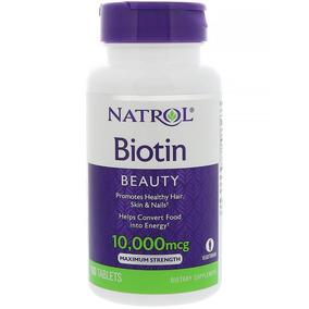 Biotin Natrol 10,000 Mcg 100 Capsulas