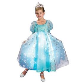 Disfraz De Princesa Para Niña Azul Talla Toddler 1 A 2 Años