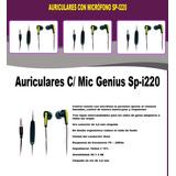 Auriculares C/ Mic Genius Sp-i220