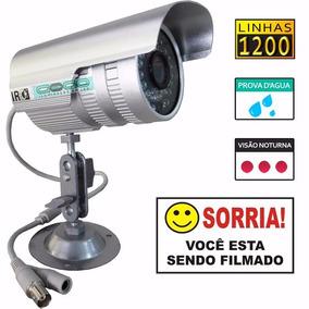Camera Infra Vermelho 36 Led 1/3 50m Prova Dagua Cftv Linhas