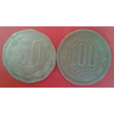 Dúo De Monedas De 50 Y 100 Pesos Chilenos