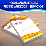 Hojas Membretada, Recipes Medico 100unid Carta Full Color