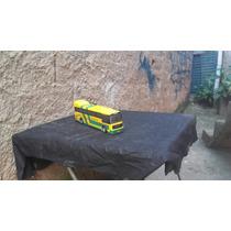 Ônibus Expresso Brasileiro Em Madeira 28 Cm