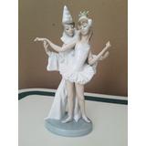 Porcelana Lladro Bailarina Y Payasito
