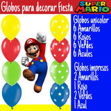 Globos De Látex Surtidos Para Decorar Fiestas Mario Bros.