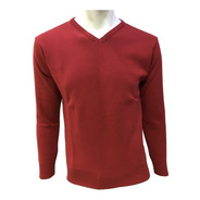 Suéter Rojo Cuello V Hombre