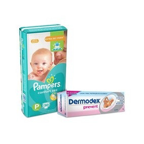 Kit Fraldas Pampers Confort Sec P - Mega + Creme Preventivo