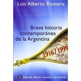 Libro : Breve Historia Contemporanea De La Argentina (spa..