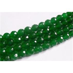 Collar De Esmeraldas Facetadas 4 Mm Sin Broche