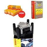 Kit Cables Y Bujias Ngk + Bobina Bosch Vw Suran 1.6 8v