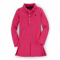 Vestido Polo R. Lauren Nena 4 Y 6 Años M/larga Hermosos
