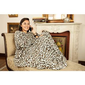 Cobertor De Tv Com Mangas Solteiro Leopardo - Loani
