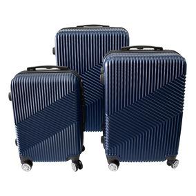 Set Maleta 3 Piezas Rígida Color Azul, Abs, Viaje, Baratas