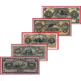 Billetes De Costa Rica Set De 5 Formulas Sin Circular Autent