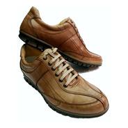 Zapatilla Urbana 100% Cuero Foot Notes 1281 Marron Hot Sale