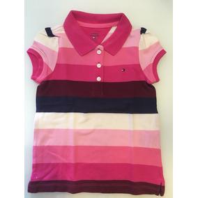 Camisa Polo Infantil Feminina Tommy Hilfiger