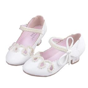 Sapato Infantil Festa Branco Rosa Princesa Daminha Luxo