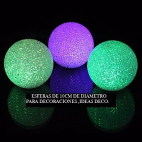 15 Esferas Led De 10cm -velas-eventos-decoracion-fanales-