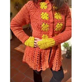 Saco De Lana Artesanal Tejido Al Crochet