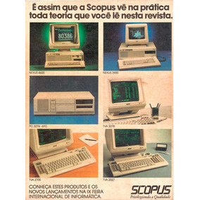 Computador Da Scopus (clone Nacional Pc-xt Ou At 286)