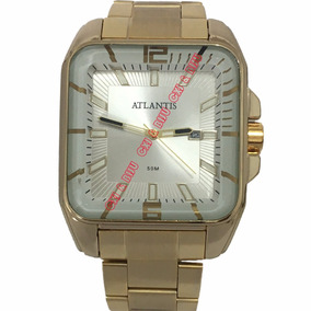abb91ce9ddb Relogio Quadrado Atlantis Masculino - Joias e Relógios no Mercado ...