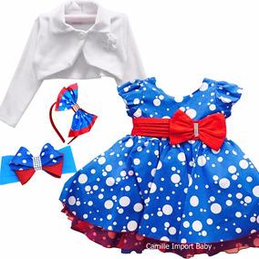 Vestido Festa Galinha Pintadinha 1-4 Anos E 2 Tiaras Bolero