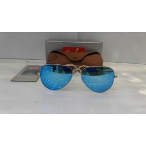 9a21b6e67679d Ray Bam Aviador Azul Espelhado De Sol - Óculos no Mercado Livre Brasil