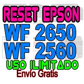 ++ Reset Oficial Epson Wf 2650 Wf 2660 Repara Almohadillas