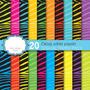 Kit Imprimible Pack Fondos Animal Print Zebra Multicolor