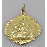 Antigua Medalla Sagrada Familia Or 18 Kilates 1 Grs