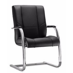 Cadeira Interlocutor Diretor New Onix Pé Continuo Cromado
