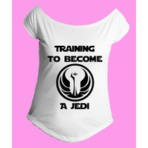 Camiseta Treinando Virar Jedi Star Wars Gola Canoa 01