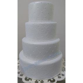 Bolo Fake Casamento Branco (decoração)