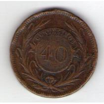 Uruguay 40 Centesimos Año 1857