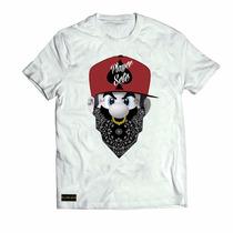 Camisa Camiseta Super Mario Gangsta Thug Life Rap Swag
