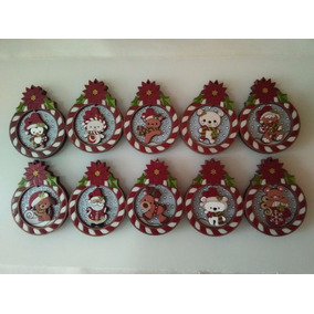 Esferas Navideñas De Madera Rojas 100% Hechas En México