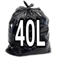 Saco Para Lixo 40 Litros  Com 100 Unidades