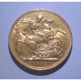 1 Libra Esterlina Soberano De Oro 1912 - Excelente Inversión