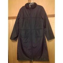 Abrigo Negro Impermeable, Especial Para Clima Frio, Lluvioso