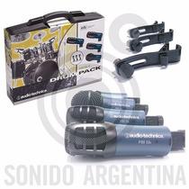 Set De 4 Microfonos Audio Technica Mb Dk4 Para Bateria Gtia