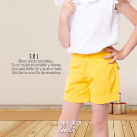 Short Para Niñas Short Sol By Vita Plaud Kids - Talla 4