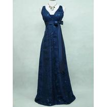 Vestido Ingles Matrimonio Cocktail Charlotte Azul Xxl