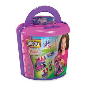 Juguete Blocky 01-0629 Balde Encantada 100 Piezas