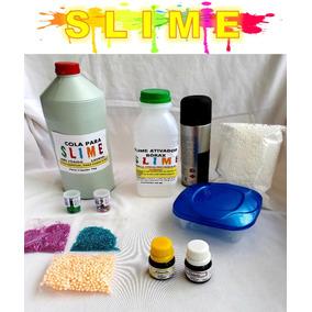 Kit Slime Barato Completo Borax Cola Gliter 11 Itens+brinde