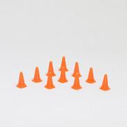 Lote 10 Unidades Cone Sinalização Miniatura Escala 1/64