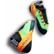 Zapatillas De Escalada Jurax Yana C2 Verde/naranja