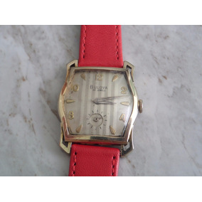 Reloj Bulova Art Deco Lamina De Oro De Cuerda De Coleccion