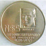 Uruguay Sesquicentenario De 1825 Moneda N$5 Año 1975