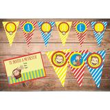 Cumpleaños Jorge El Curioso Deco Impresa Y Recortada