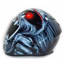 Capacete Moto Personalizado Pintura Eddie Iron Maiden